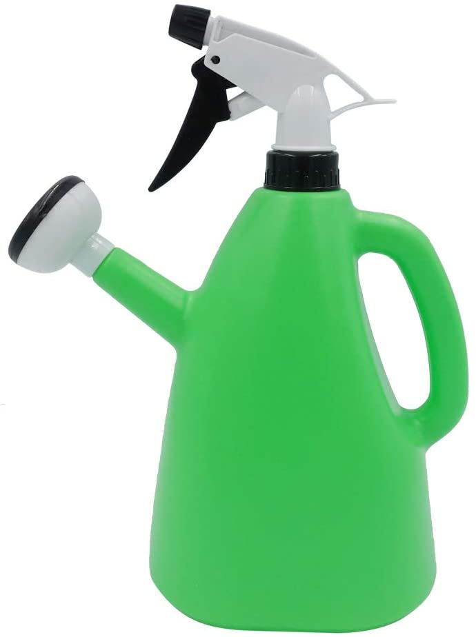 Green Watering Cans for House Outdoor Plants,52.79oz/1500ml 2 in 1 Dual Use Home Hand Operated Sprayer Balcony Disinfection Spraying Watering Pot Bottle for Indoor Plants
