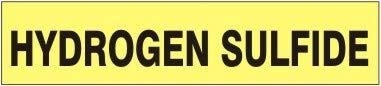 Hydrogen Sulfide – Pipe Marker - Adhesive Vinyl- (11 Units)