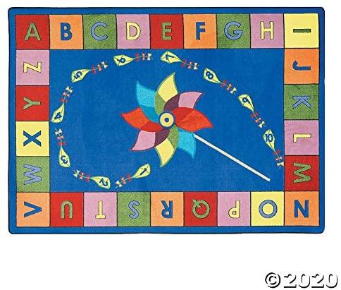 Alphabet Pinwheel® Classroom Rug - Educational - 1 Piece
