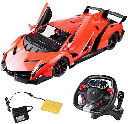 Xuess Intelligent Rechargeable Remote Control Car 2.4GHz RC Drift Car Electric Hobby Racing Car,1:14 Remote Control Car Model Vehicle,Children Birthday Gift