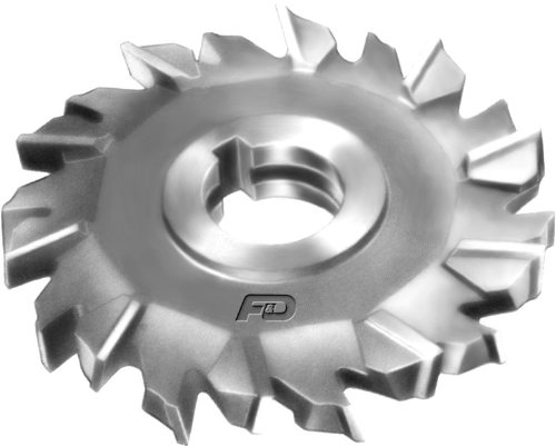 F&D Tool Company 11066-A7351 Staggered Tooth Side Milling Cutter, High Speed Steel, 3.5