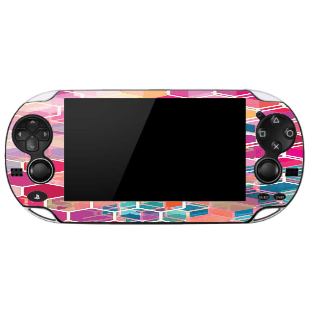 Pink Shades Hexagon Design Vinyl Decal Sticker Skin by egeek amz for Playstation Vita