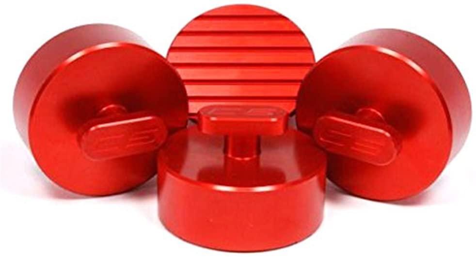 C6 Corvette Jacking Pad Set (4) - Anti-Slip Aluminum (Red)