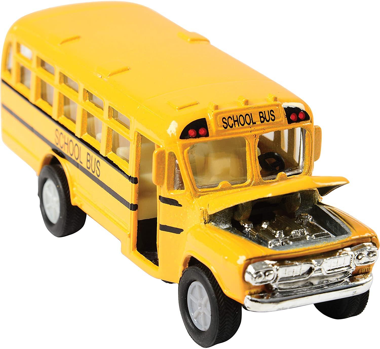 US Toy Die Cast Metal Toy School Bus, 5