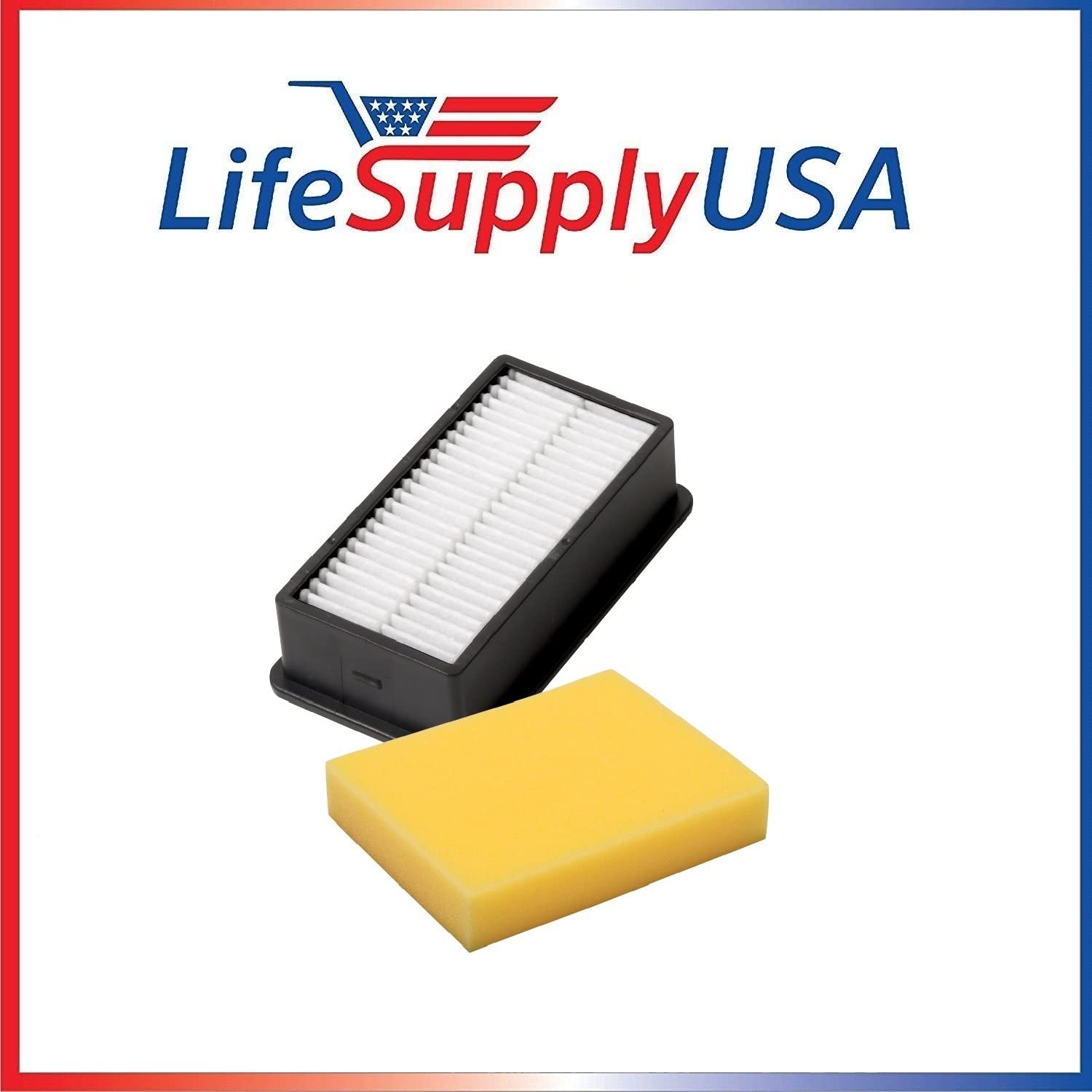 LifeSupplyUSA Filter Pack kit Compatible with BISSELL 3918 Series CleanView and PowerLifter Upright Vacuum Cleaners BISSELL Style 1008 (1 Set)