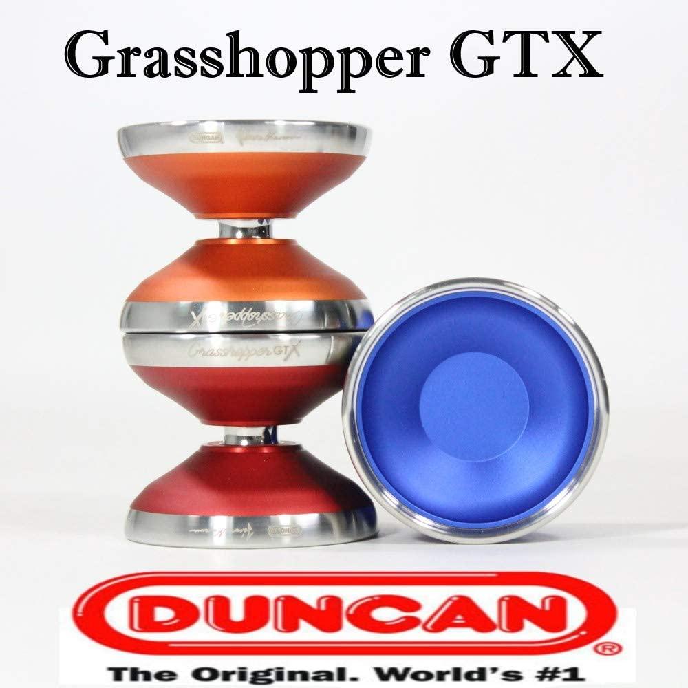 Duncan Grasshopper GTX Yo-Yo - World Champion Janos Karancz Signature YoYo (Blue Silver)