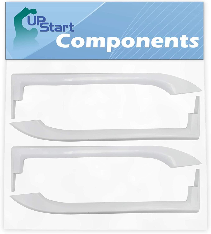 2-Pack 5304486359 Refrigerator Door Handles Set Replacement for Frigidaire FFTR1828SP1 Refrigerator - Compatible with 5304486359 White Door Handles - UpStart Components Brand