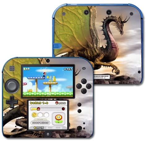 MightySkins Skin Compatible with Nintendo 2DS wrap Sticker Skins Dragon World
