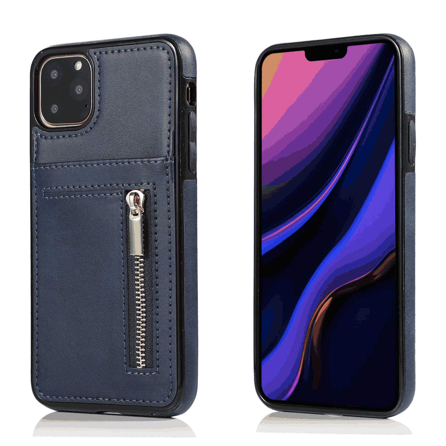 Leather Cover Compatible with Samsung Galaxy S20 Plus, Blue Wallet Case for Samsung Galaxy S20 Plus