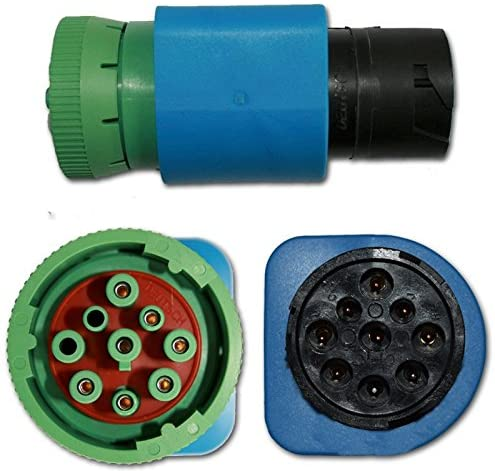 Grandview Black 9-pin to Green 9-pin J1939 CAN500 Paccar Cummins 5299126