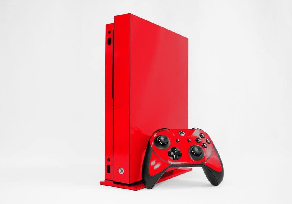 Microsoft Xbox One X Skin (XB1X) - NEW - ROCKIN RED system skins faceplate decal mod