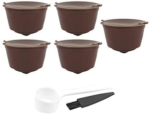 minansostey Refillable Coffee Capsules Reusable Coffee Pods for Nescafe DOŏLCĈE GĞUÛSTO