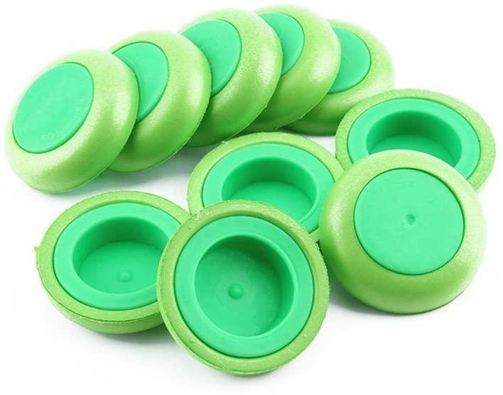 VORCOOL 10pcs Soft Disc Bullet Refill Blaster Darts Toy Gun for Nerf Vortex Praxis Vigilon (Green)