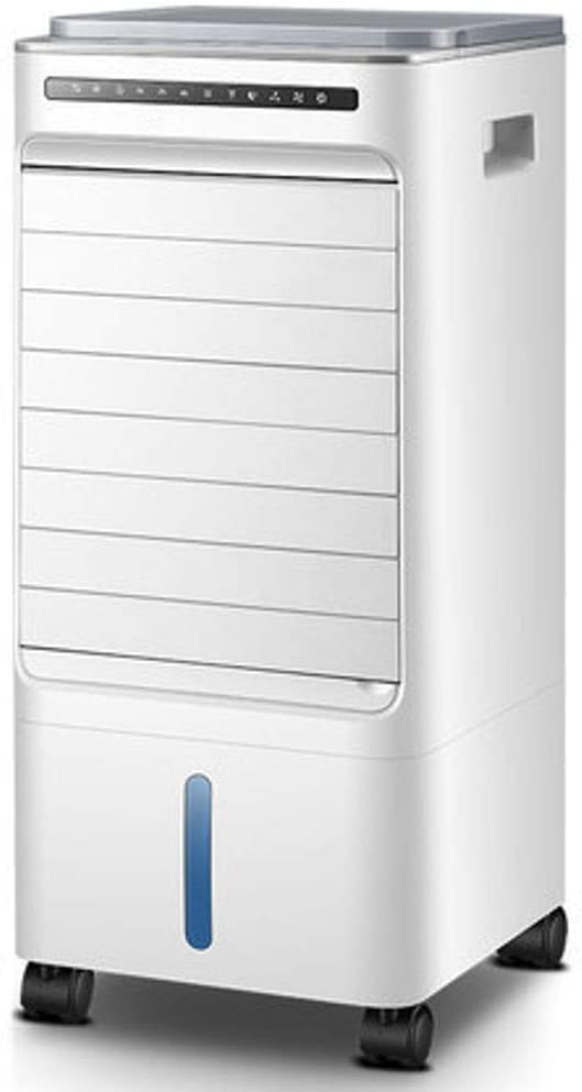 ALIMIGO Compact Air Cooling Fan,Oscillating Whole Room Tower Fan Evaporative Quiet Cooling Air Multiplier with Fan & Humidifier-White\