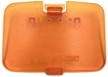 Memory Expansion Jumper Pak Pack Door Cover Lid Replacement Memory Cover Cover Jumper Pak Lid Door for Nintendo 64 N64 Console (Orange)