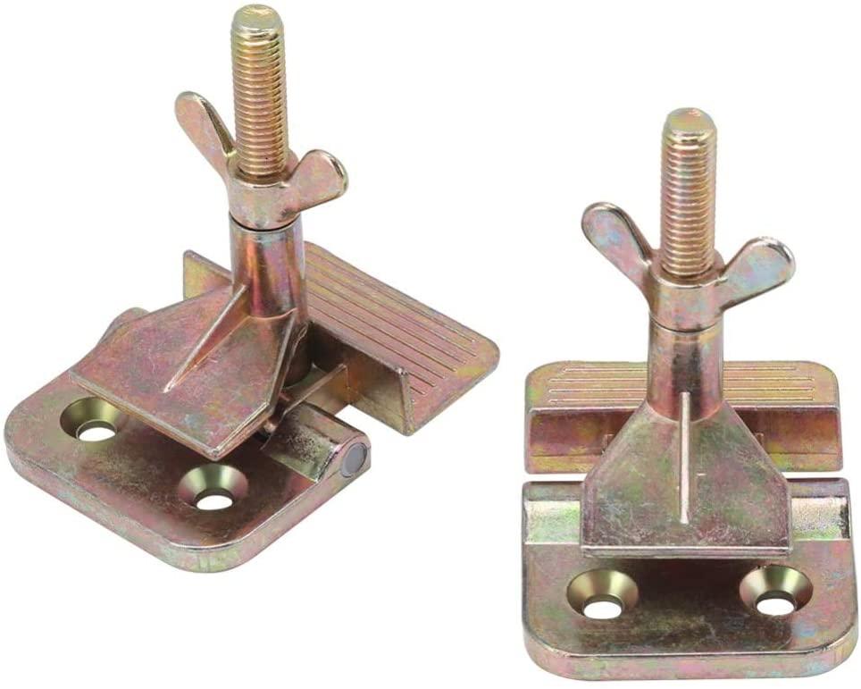 Ochoos 2 pcs/Set Silk Screen Printing Metal Butterfly Hinge Clamp DIY Hobby Tool Printer Parts Butterfly Frame Hinge Clamp