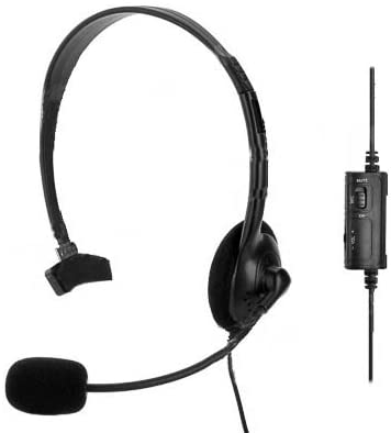 Digibuys Wired Headset Headphones Earphones Microphone Mic for Playstation 4 PS4