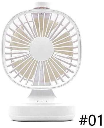 HQWE-ER YYIJN-FANJUN Creative Mini USB Rechargeable Desktop Fan Portable Ultra-Quiet Electric Summer Fans Silent Desktop Fan Home Office Table Fan (Color : White)