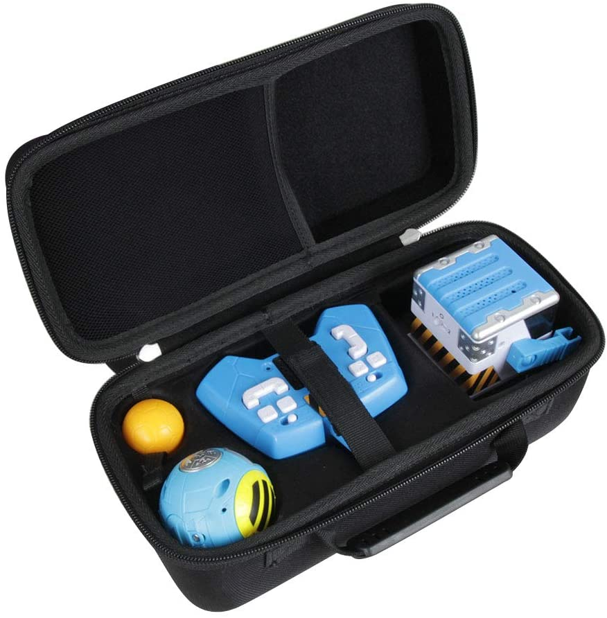 Hermitshell Hard EVA Travel Case Compatible with Mibro - Really Rad Robots Interactive Remote Control Robot and Yakbot YB-01 Blue