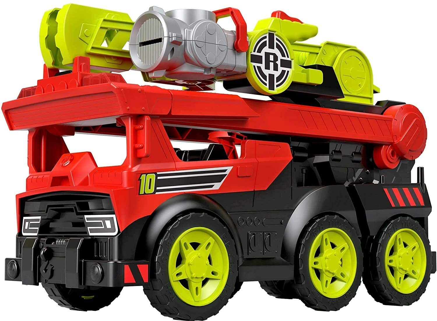 Fisher-Price Rescue Heroes Transforming Fire Truck with Lights & Sounds, Multicolor, Model:GFW30