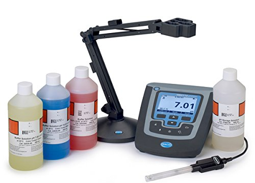 Hach 8507560 HQ411d Benchtop Meter Package with PHC201 Gel pH Probe