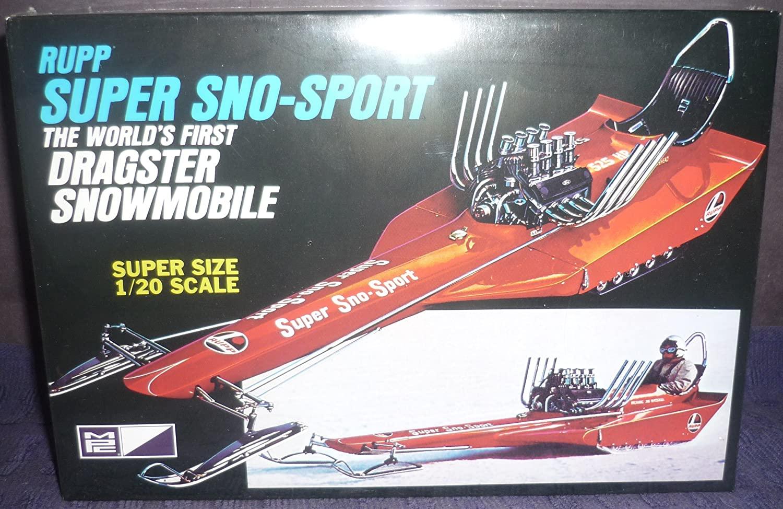 Rupp Super Sno-Sport World's 1st Dragster Snowmobile 1-20 MPC Boxart Ltd Production