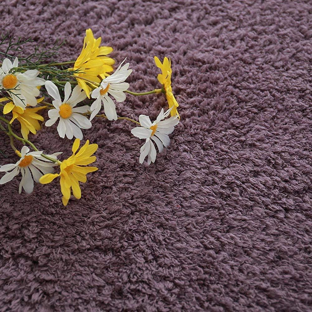Fuzzy Shaggy Fur Bedside Carpet,Shaggy Area Rug for Kids,Nursery Fluffy Shag Boys Girls Bedroom Plush Not-Slip Rugs Purple 40x60cm/16x24inch