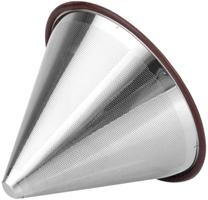 Paperless Stainless Steel Pour Over Coffee Filter, DaKuan Reusable Drip Coffee FilterDouble Mesh Drip Coffee Filter