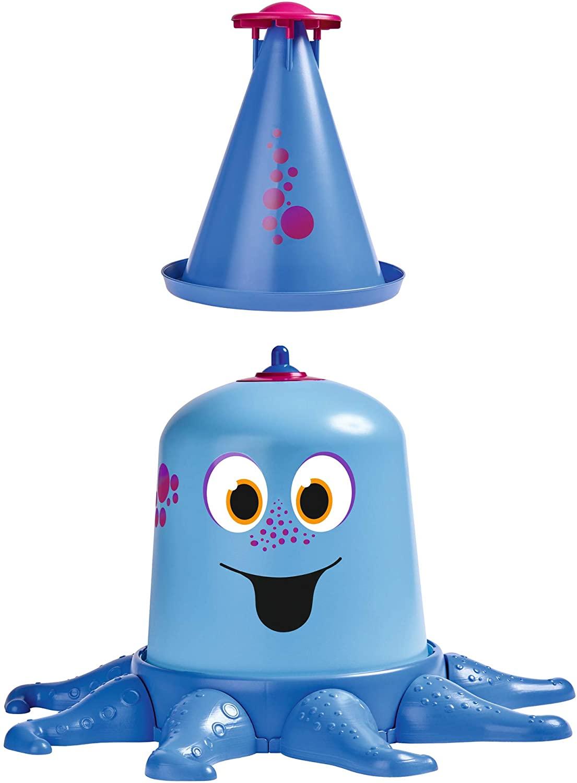 BIG Spielwarenfabrik 800076547 Aqua-Nauti Water 4 Metres High Jet, Octopus Shaped Garden Sprinkler for Children Above 3 Years Blue