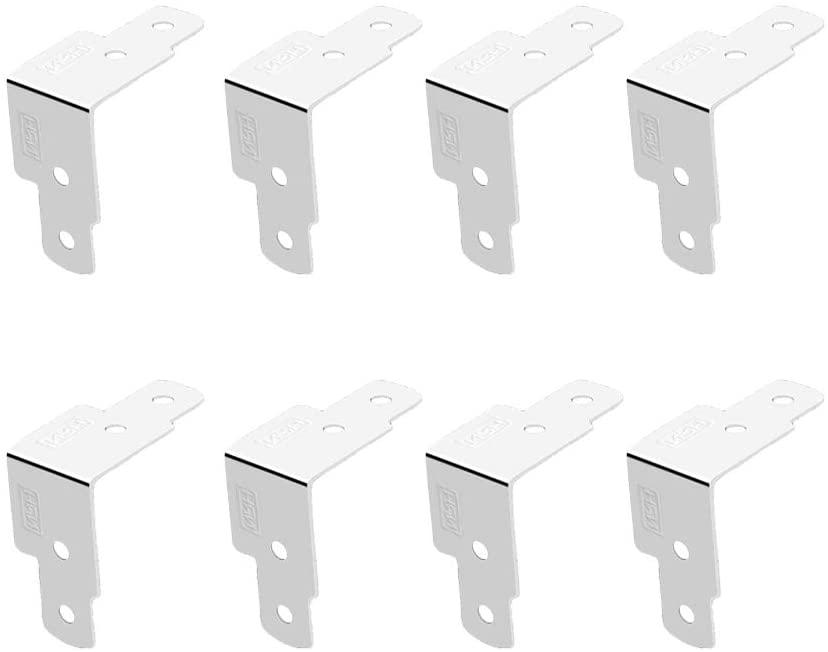 YARNOW 8pcs L Shaped Durable Box Edge Connector Iron Case Corner Fasteners Hardware Accessories Brace Bracket Metal Joint Fastener