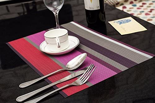 The anti-slip pad insulator western two-color PVC insulation pad table pad pad pad cup pad washable Super Dry streaks of 4530cm, Purple