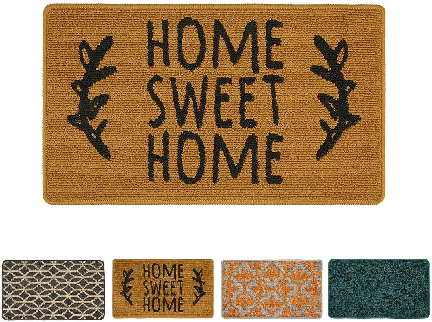 Doormat Outdoor Indoor Home Mat Non Slip Waterproof Washable Quickly Absorb Moisture and Resist Dirt Rugs for Door Entrance, Kitchen, Flat and Office (17