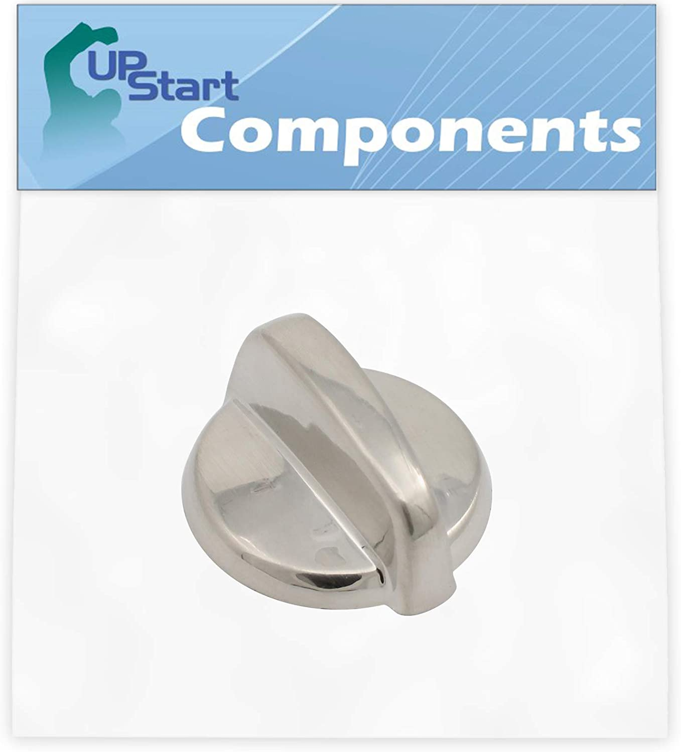 Replacement Control Knob WB03T10284 Stainless Steel Finish for General Electric JSP46SP3SS Range