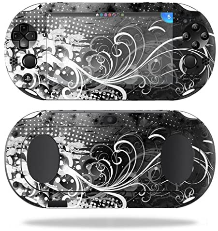 MightySkins Protective Vinyl Skin Decal for Sony PS Vita (Wi-Fi 2nd Gen) wrap Cover Sticker Skins Black Flourish