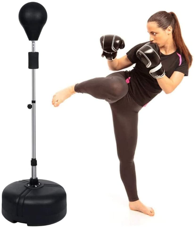 Freestanding Punching Ball Speed Bag,Domestic Solid Ball Reaction Target Suction Cup, Vertical Tumbler Vent Ball, Boxing Training Equipment