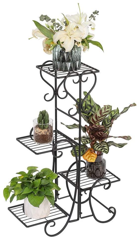 Plant Stand for Home Deco Indoor and Outdoor Garden Patio Flower Pot Holders Metal Plant Rack Multi Tier Display Shelf