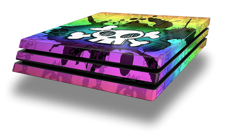 WraptorSkinz PS4 Pro Skin Cartoon Skull Rainbow - Decal Style Skin Wrap fits Sony PlayStation 4 Pro Console