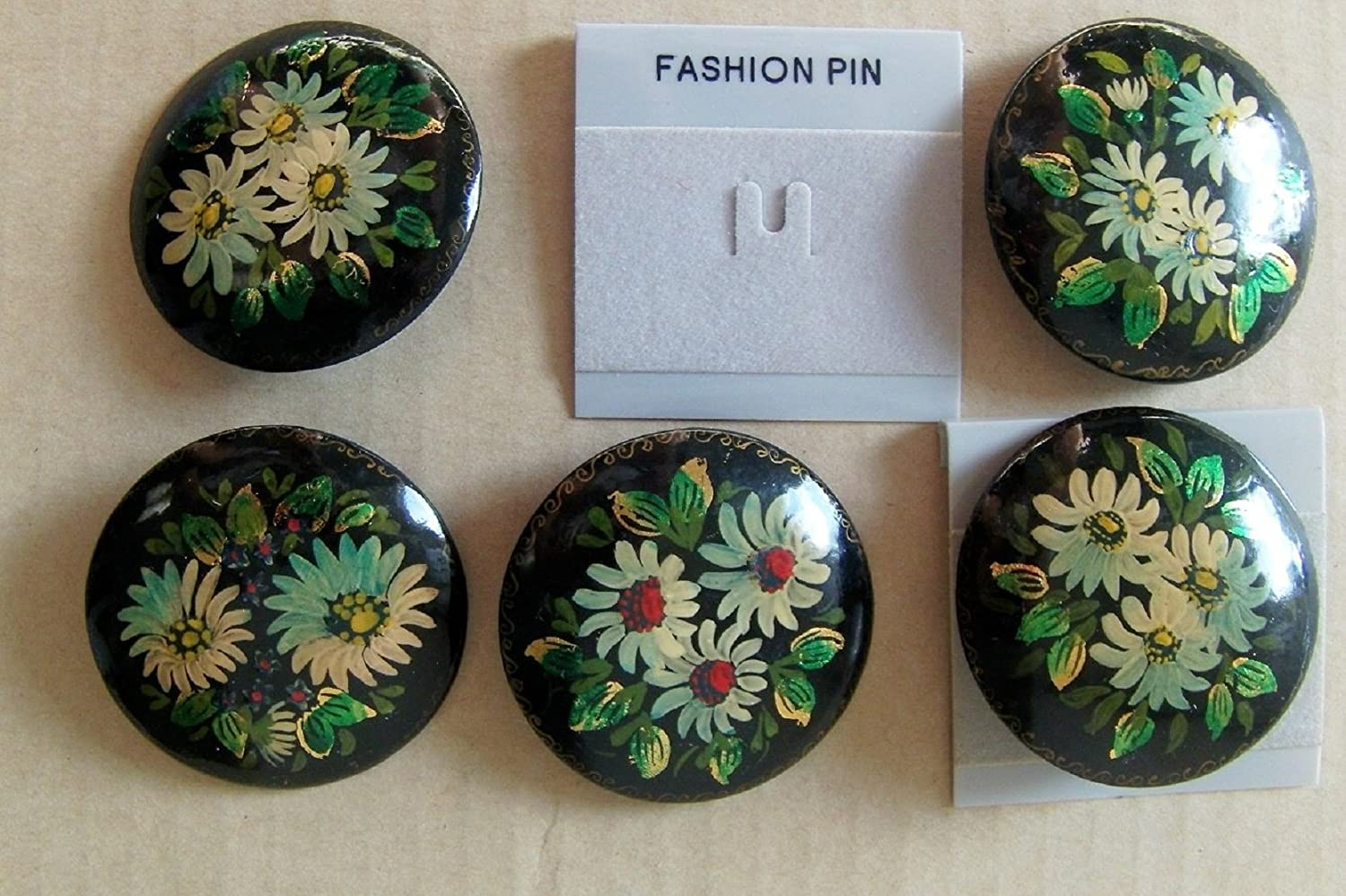 Pin Brooch Russian Flower (One pin random color)
