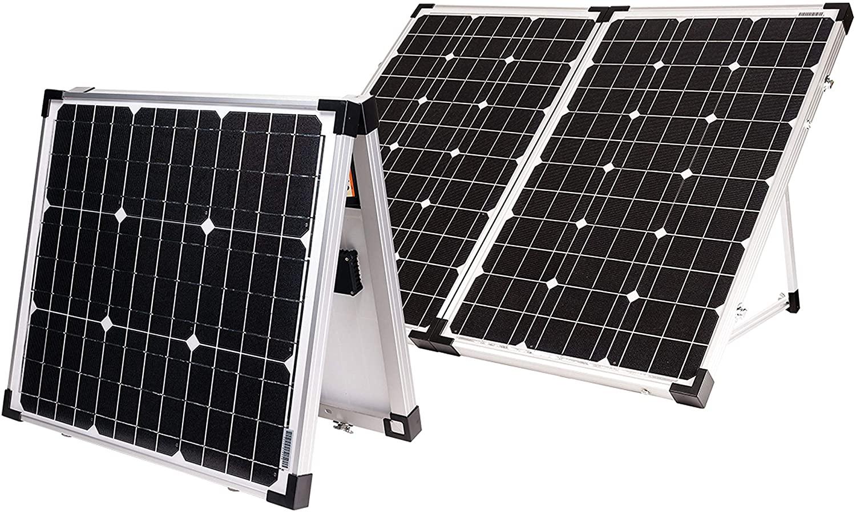 Go Power! GP-PSK-80 80W Portable Folding Solar Kit with 10 Amp Solar Controller, Black