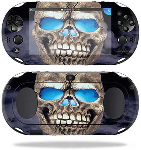 MightySkins Protective Vinyl Skin Decal for Sony PS Vita (Wi-Fi 2nd Gen) wrap Cover Sticker Skins Psycho Skull