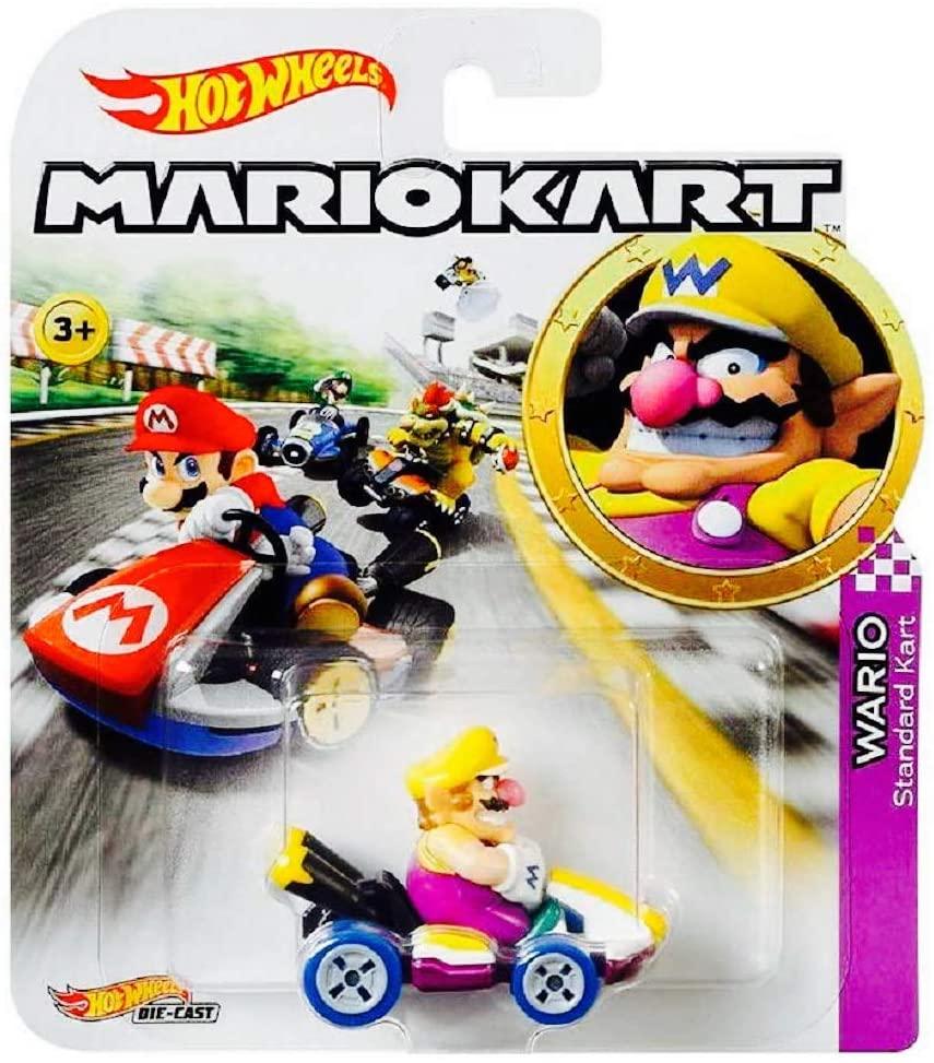 Mario Kart Wario Character Car Die Cast 1:64 Purple