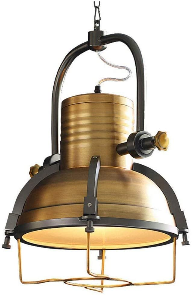 BOSSLV Wall Wash Lights Lamps Lights Spotlights Lighting Edison Vintage Pendant Lamp Brown Shade Retro Industrial Iron Pot Hanging Lamp Pendant