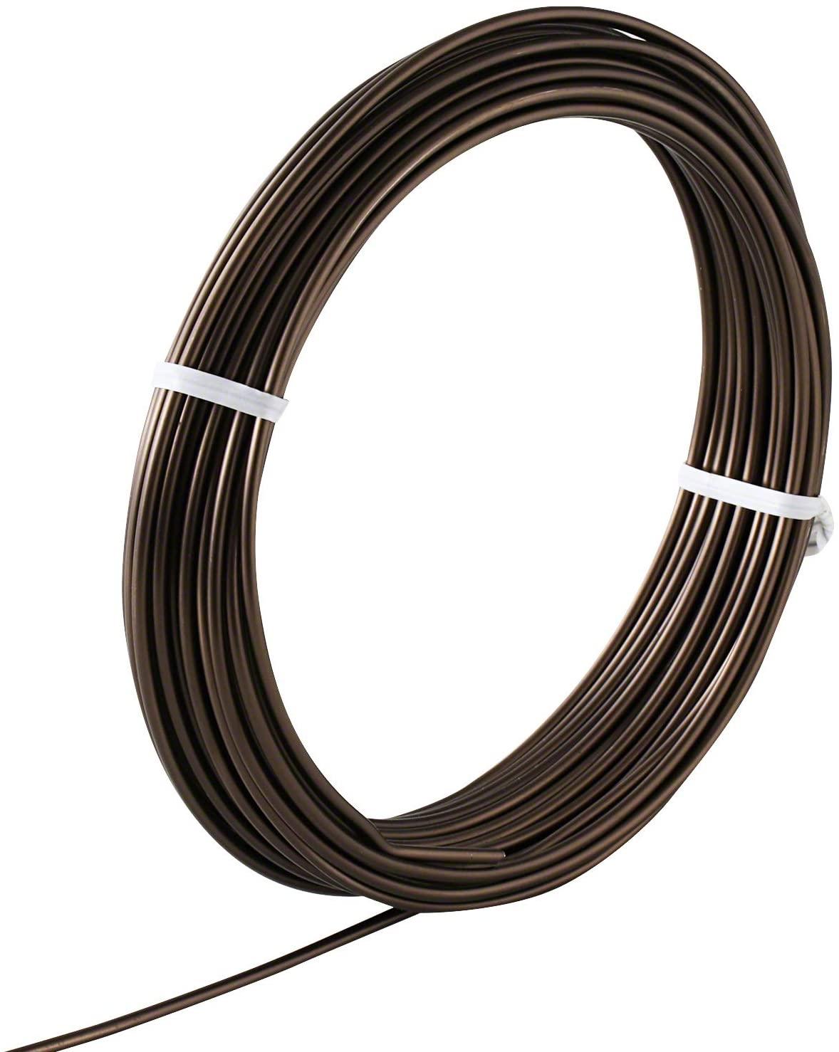 Hanafubuki Wazakura Japanese Bonsai Training Wire 6.0mm, Brown Anodized Coating Aluminum Made in Japan 150g - 3.93Ft(1.2m) 6.0mm