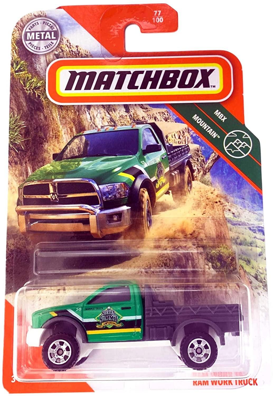 Matchbox 2020 MBX Mountain 77/100 - Ram Work Truck (Green)