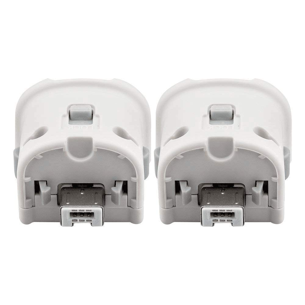 Motion Plus Adapter for Wii Remote, Dotca RN07 2 Pcs Wii Motion Plus Adapter for Original Nintendo Wii Controller-White
