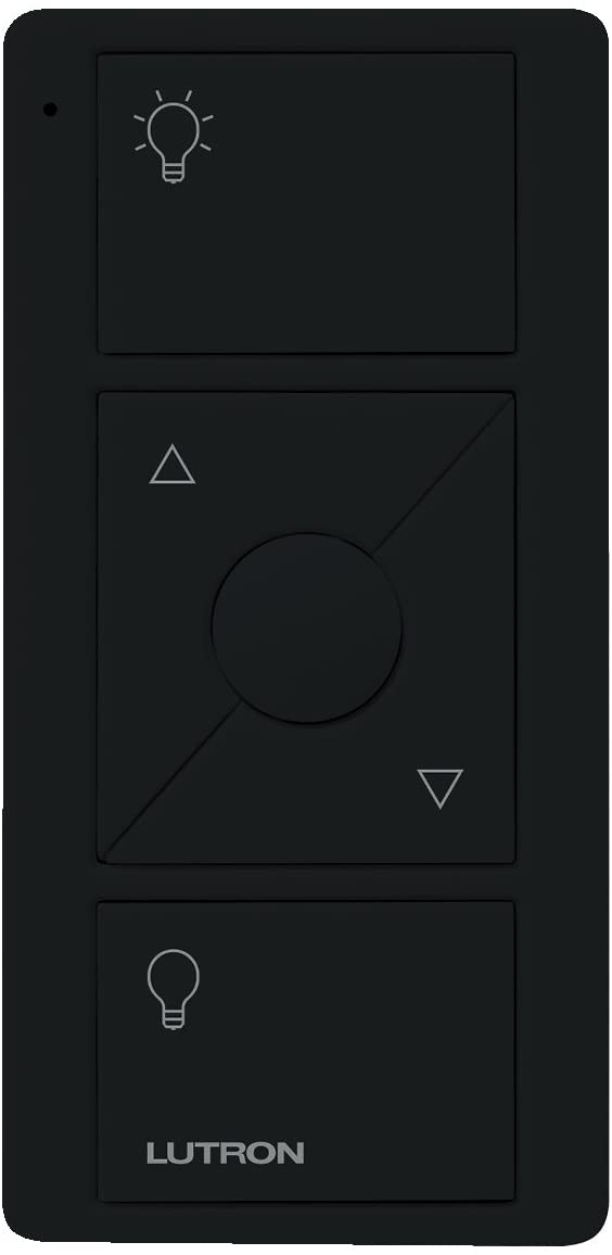 Lutron Pico Remote for Caseta Wireless Smart Dimmer and Plug-In Lamp Dimmer with Favorite Setting, PJ2-3BRL-GBL-L01, Black