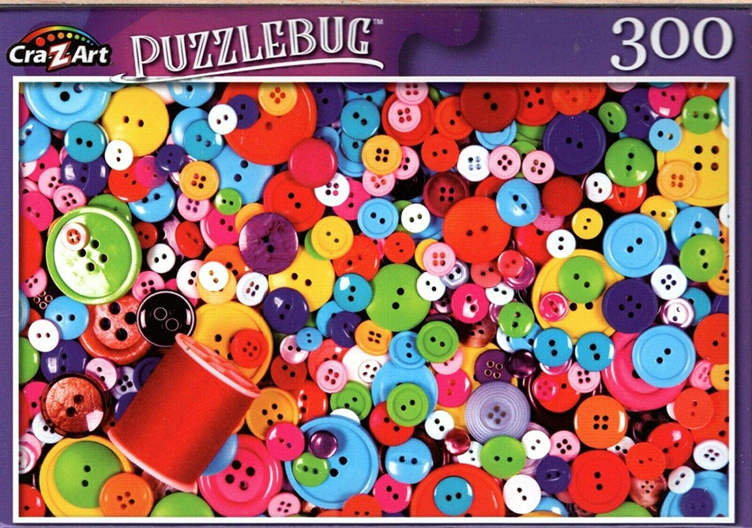 Colorful Buttons and Thread - 300 Pieces Jigsaw Puzzle