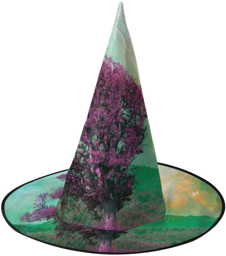 Halloween Witch Hat,Large Oak Tree Vector Witches Hat for Women Halloween Party Cosplay Decoration