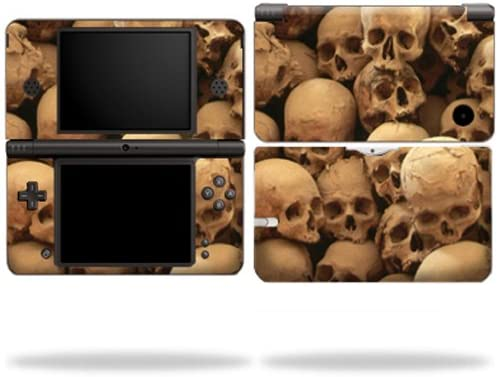 MightySkins Skin Compatible with Nintendo DSi XL wrap Sticker Skins Skull Pile