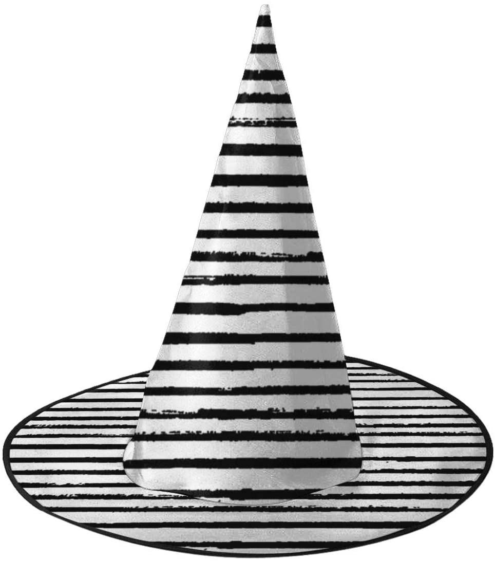 Halloween Witch Hat,Black And White Stripes Accessory Costumes for Halloween Party